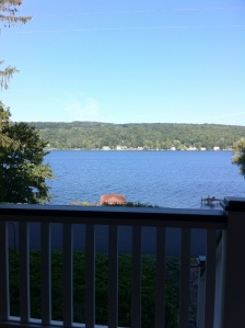 Porch view of the lake